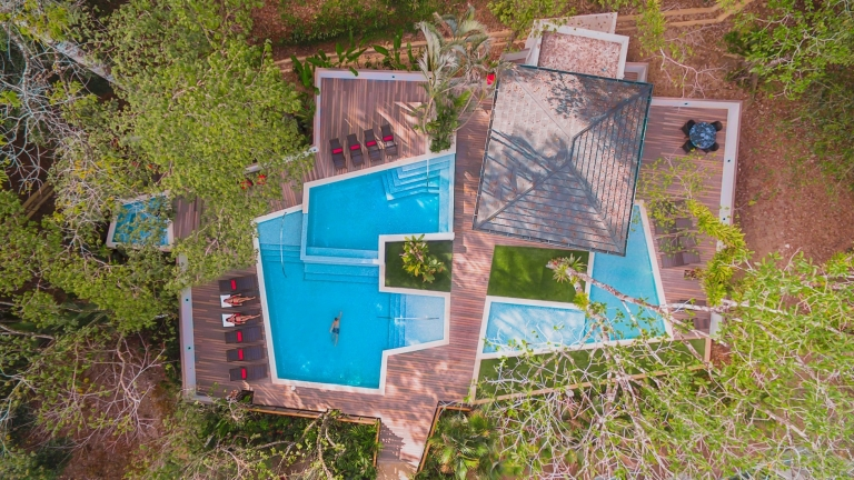 Elan at Ballena Beach Pool Birdseye view