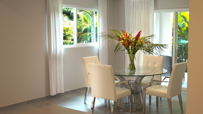 Dining Room Unit 4F Elan at Ballena Beach